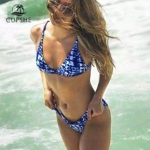 NEW! Cupshe Tie Dye Look Bikini • Size M